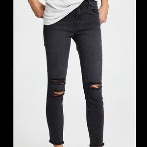 J Brand black ripped skinny jeans